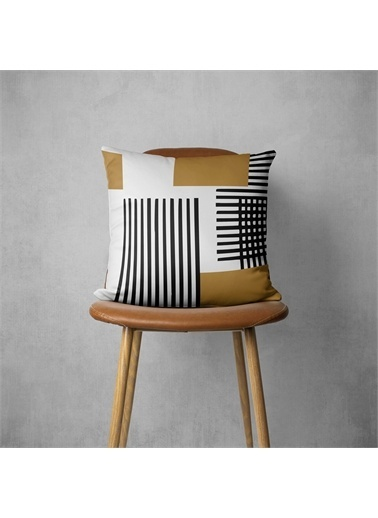 MarkaEv Pillow 426 Çizgi Desenli  Kırlent Kılıfı Renkli